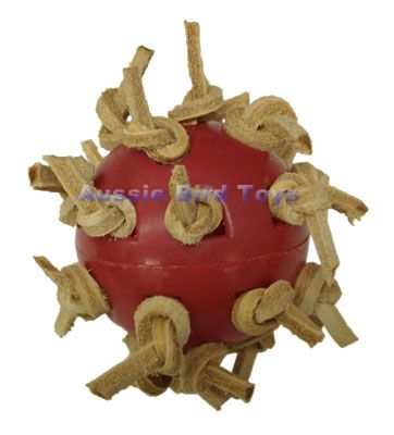 AC 018HS LEATHER WHIFFLE BALL HANDTOY SMALL