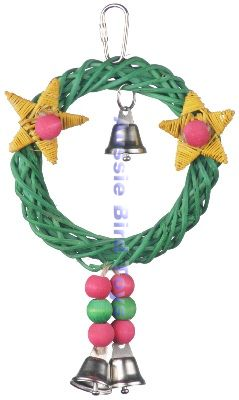 SB492 XMAS WREATH VINE SWING