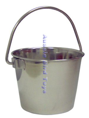 SS0140 1 QUART STAINLESS BUCKET ROUND